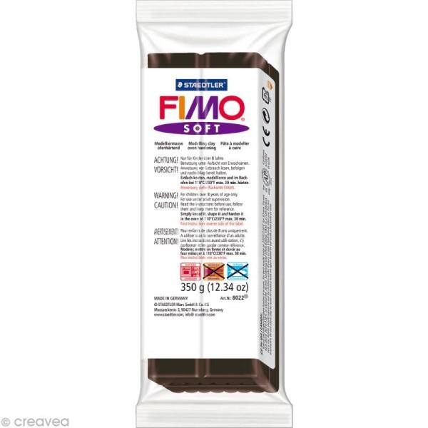 Pâte Fimo soft Noir 9 - 350 gr - Photo n°1