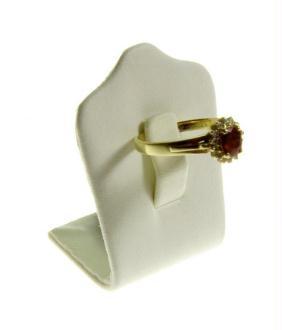 Porte bijoux mini porte bague trèfle en simili cuir (1 bague)
