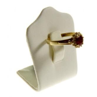 Porte bijoux mini porte bague trèfle en simili cuir (1 bague) Beige