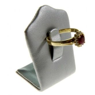 Porte bijoux mini porte bague trèfle en simili cuir (1 bague) Argenté