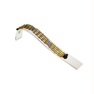 Porte bijoux support bracelet toboggan en acrylique Transparent
