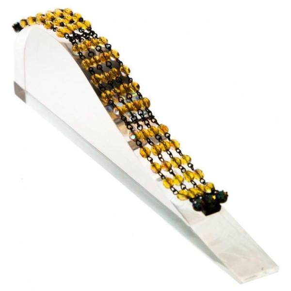Porte bijoux support bracelet toboggan plein en acrylique Transparent - Photo n°2
