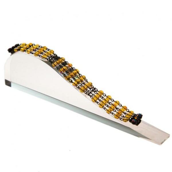 Porte bijoux support bracelet toboggan plein en acrylique Transparent - Photo n°1