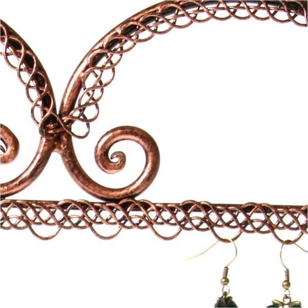Porte bijoux coeur boucle d'oreille et bagues Cuivre - Photo n°2