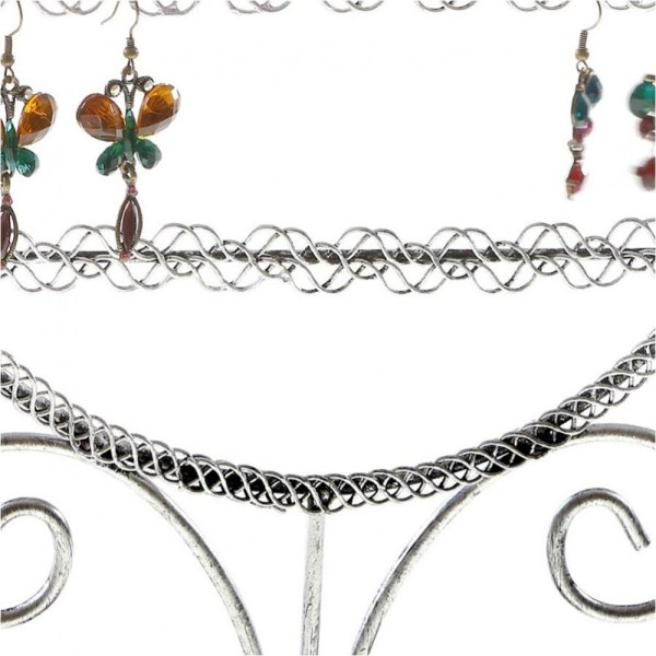 Porte bijoux presentoir boucle d'oreille sweet mirror (24 paires) Gris patiné - Photo n°2