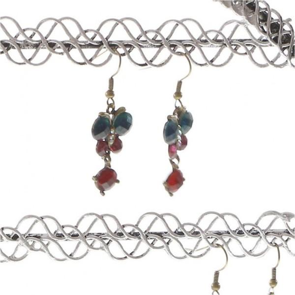 Porte bijoux presentoir boucle d'oreille sweet mirror (24 paires) Gris patiné - Photo n°3
