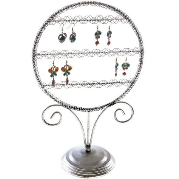 Porte bijoux presentoir boucle d'oreille sweet mirror (24 paires) Gris patiné - Photo n°1