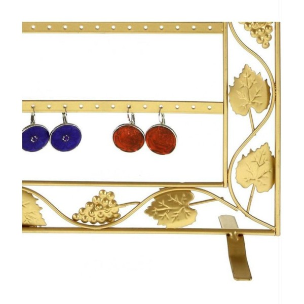 Porte bijoux cadre porte boucle d'oreille vignes (28 paires) - Photo n°3