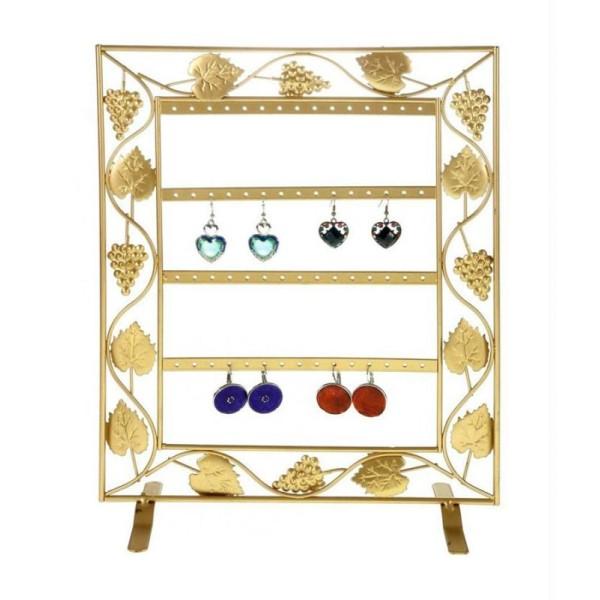 Porte bijoux cadre porte boucle d'oreille vignes (28 paires) - Photo n°1