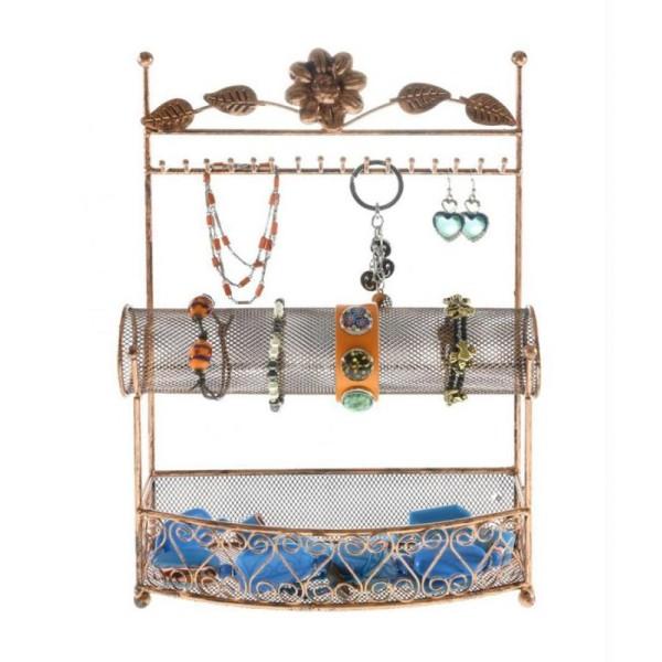 Porte bijoux porte bijoux hilda avec panier et jonc pour bijoux - Photo n°1