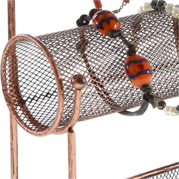 Porte bijoux porte bijoux hilda avec panier et jonc pour bijoux Cuivre - Photo n°4