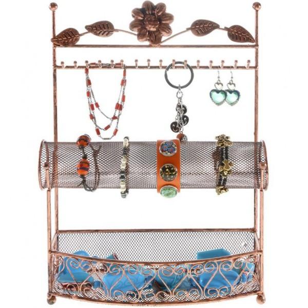 Porte bijoux porte bijoux hilda avec panier et jonc pour bijoux Cuivre - Photo n°1