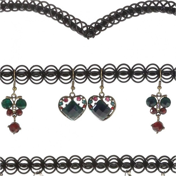 Porte bijoux porte boucle d'oreille amour (25 paires) Noir - Photo n°2