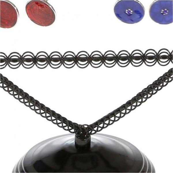 Porte bijoux porte boucle d'oreille amour (25 paires) Noir - Photo n°3
