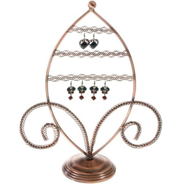 Porte bijoux porte boucle d'oreille amande Cuivre - Photo n°1