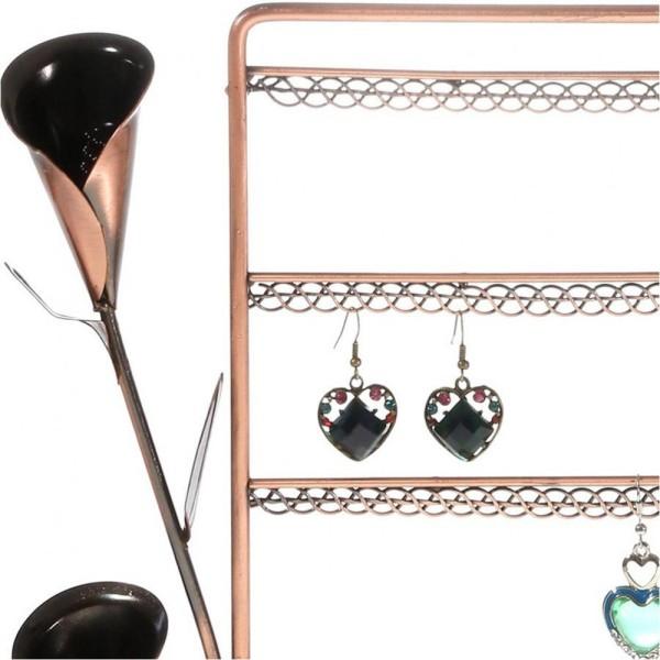 Porte bijoux presentoir boucle d'oreille fleur arum (40 paires) Cuivre - Photo n°2