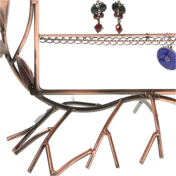 Porte bijoux presentoir boucle d'oreille fleur arum (40 paires) Cuivre - Photo n°3