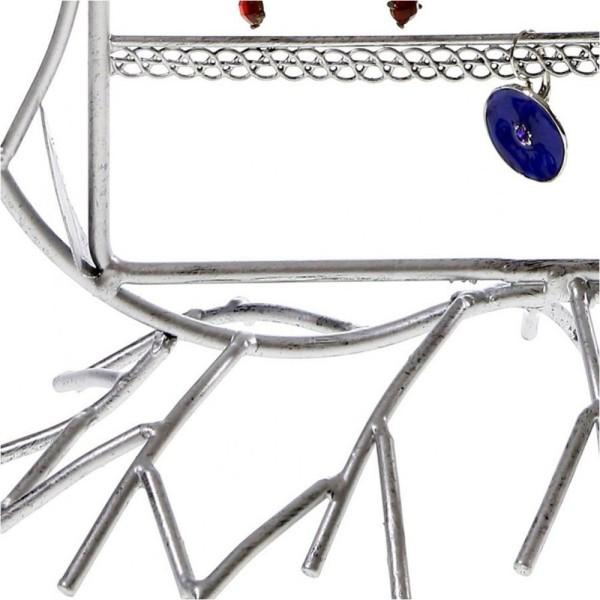 Porte bijoux presentoir boucle d'oreille fleur arum (40 paires) Gris patiné - Photo n°3