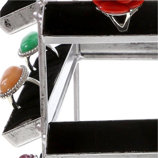 Porte bijoux presentoir bagues manège palais (160 bagues) Gris patiné - Photo n°2