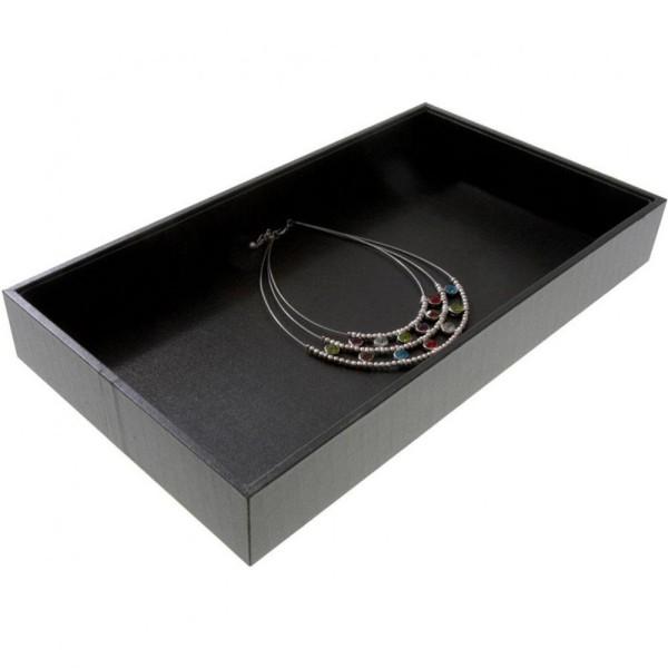 Porte bijoux plateau bijoux presentoir boucle d'oreille bracelet collier Noir - Photo n°1