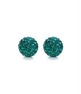 Perles shamballa rondes à strass cristal 12 mm (5 pièces)