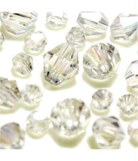 Perles cristal cz bicones en verre quartz de bohême 40 pcs - 8 mm de diamètre