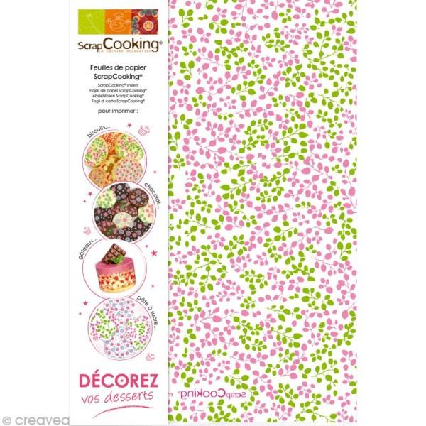 Papier cuisson Scrapcooking Assortiments 6 feuilles 21 x 30 cm - Photo n°1