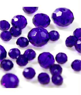 Perles cristal cz à facettes en verre quartz de bohème 70 pcs - 8 mm de diamètre