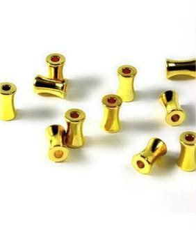 Accessoires création perles tubes 6 mm (50 pièces)