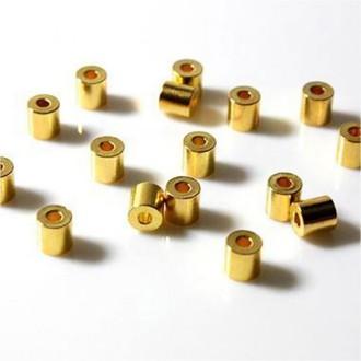 Perles tubes 4 mm (50 pièces) - marque presentoirs-pour-bijoux Doré