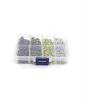 Perles boite perles fantaisie intercalaires 4 couleurs 400 pièces