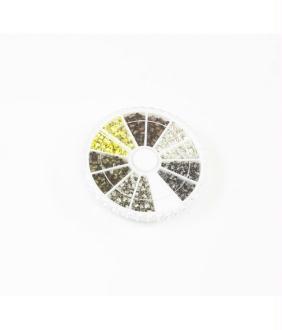 Accessoires création boite de perles à écraser 6 couleurs 2 mm (1500 pièces)