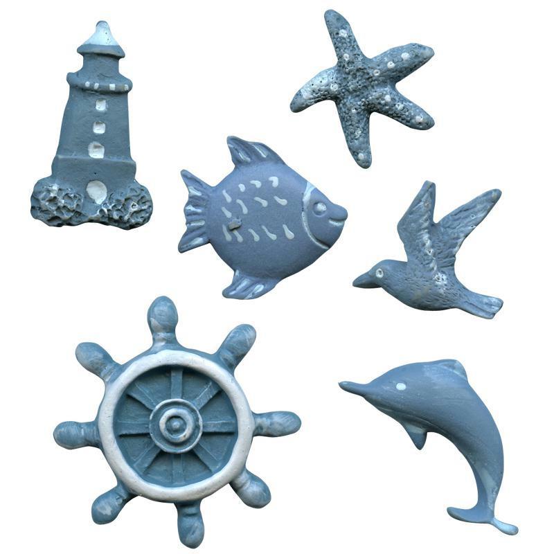 Forme de la mer bleu ciel en bois peint 3 cm x 6 formes for Meuble bois peint