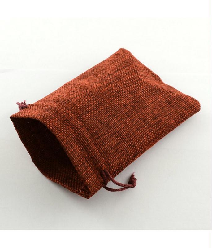 lot 10 sachets pochettes en toile de jute avec cordon 18x13 cm sachet tissu creavea. Black Bedroom Furniture Sets. Home Design Ideas