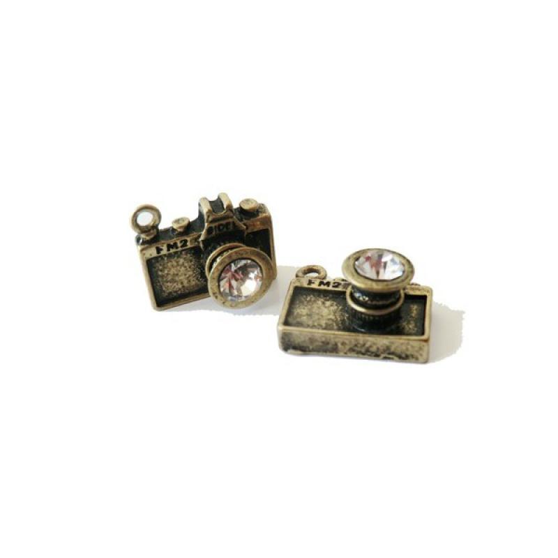 Breloque appareil photo strass 16x13mm bronze antique for Appareils cuisine professionnels