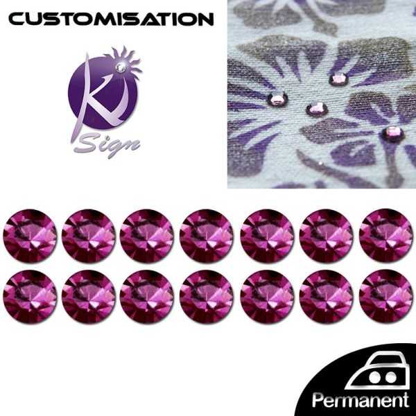 Strass HotFix Thermocollant 3 mm Violet  x 140 - Photo n°1