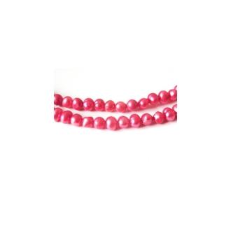 10 Perles d'Eau Douce 4-5mm CORAIL