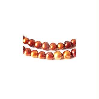 10 Perles d'Eau Douce 6-8mm BRUN