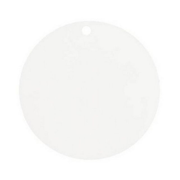 Marque place porte nom étiquette ronde blanche x10 - Photo n°1