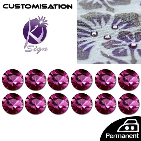 Strass Thermocollant 4 mm Violet  x 80 - Photo n°1