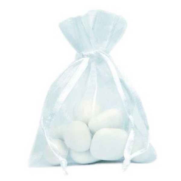 Sachet organdi blanc x10 - Photo n°1