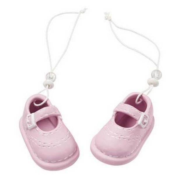 a6c60df90755d Paire de chaussons bébé fille céramique - Décoration naissance et ...