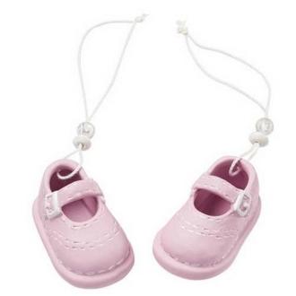 Paire de chaussons bébé fille céramique