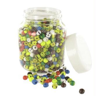Perles Cassis 33° (diam  09 mm) Multi rayées et unies - Bocal de 500 grammes