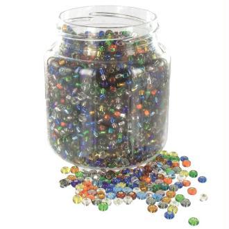 Rocailles en verres 5° (ø 05 mm) Multi Diamanté - Bocal de 500 grammes