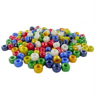 Perles Cassis en verres diam 09 mm Multi Opaque Lustré - Bocal 250 grammes