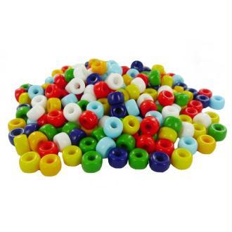 Perles Cassis en verres diam  09 mm Multi Opaque - Bocal 250 grammes