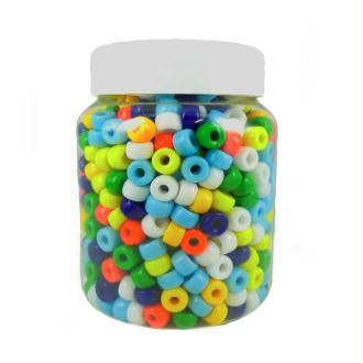 Perles Cassis en verres diam  09 mm Multi Opaque - Bocal de 500 grammes