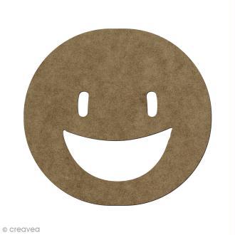 Forme en bois à décorer Smiley heureux - 5,6 x 6 cm