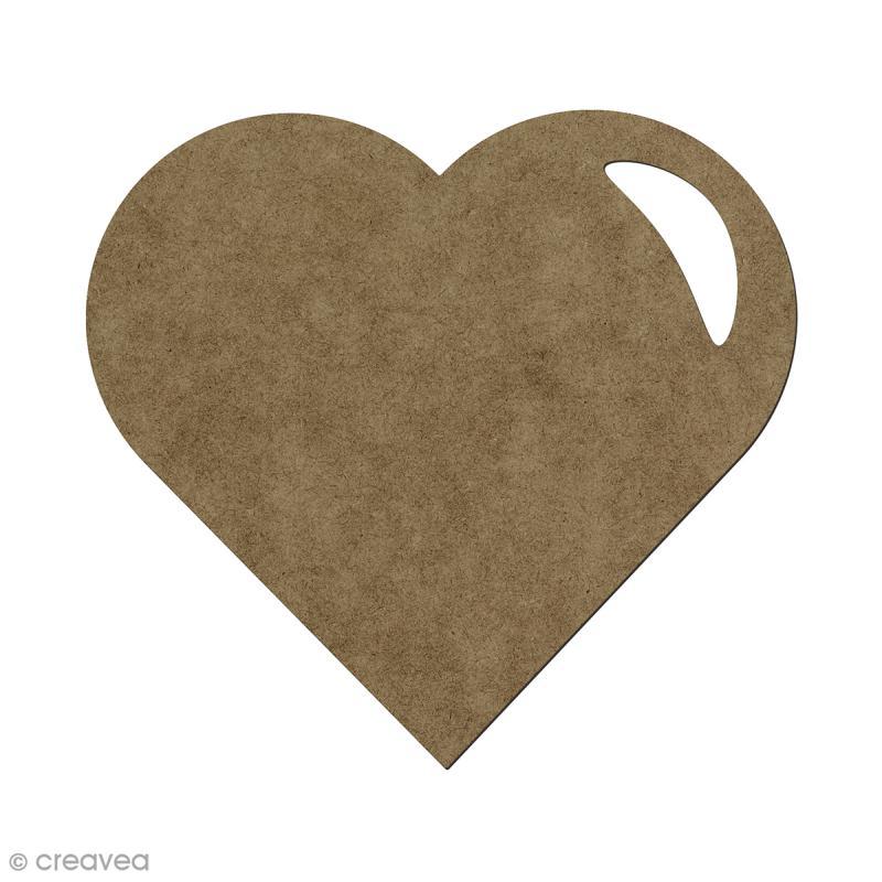 Forme en bois à décorer Coeur - 5,5 x 6 cm - Photo n°1